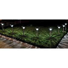 Brightest Solar Landscape Lighting - homebrite solar power sierra path lights set of 8 stainless