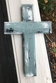 home decor crosses rustic distressed cross blue gray black and white cross wall decor
