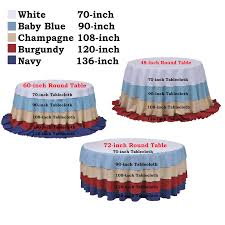 What Size Tablecloth For 60 Inch Round Table 108