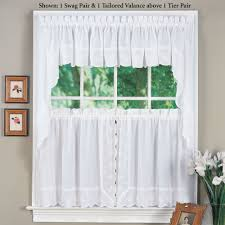 candlewick embroidered tier window treatment
