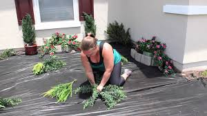 Fake Bushes Planting An Artificial Outdoor Fern How To Plant Artificial