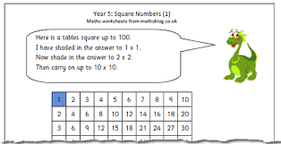 year 5 maths worksheet square numbers 1 maths blog