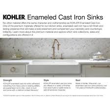 kohler cast iron kitchen sink kohler k 6625 iron tones 33 double basin top mount under mount