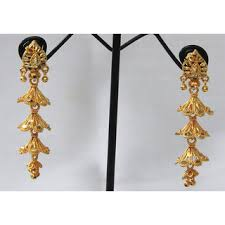 gold jhumka earrings golden jhumka earring buy golden jhumka earring online