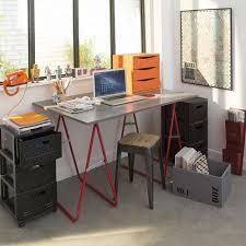 castorama le de bureau plateau décor béton 120 x 80 x 1 80 cm melamine castorama et plateau