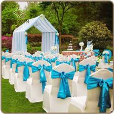turquoise chair sashes fuschia premium satin chair sash knotbow chair cover ribbon for