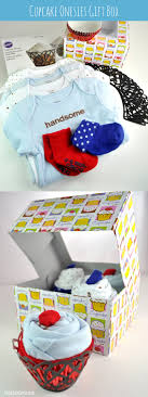 cupcake gift baskets how to make a baby onesie flower gift basket