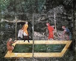 chambre de chasse chambre du cerf fresque palais des papes avignon du moyen