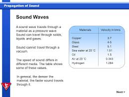 In this presentation you will explore how sound is propagated