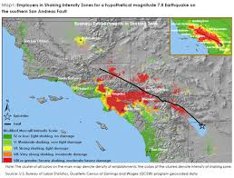 san francisco fault map labor market risks of a magnitude 7 8 earthquake in southern