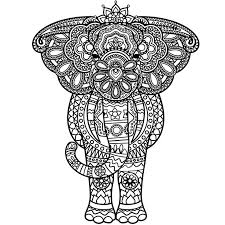 dk coloring pages 321 best colouring elephants zentangles images on
