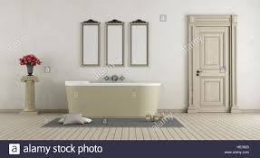 Bathroom With Stone Classic Bathroom With Stone Bathtub Closed Door And Pedestal With