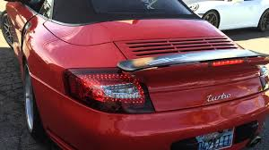 porsche widebody rear porsche 996 twin turbo wide body c4s red clear led tail lights by