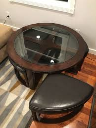 round table san carlos round coffee table with 4 ottomans stools furniture in san