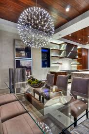 apartments bleached wood palette flooring and wood staircase with modern dining room with wooden ceiling decor and