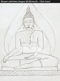 buddha image in pencil drawing style image yayimages com