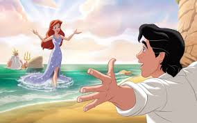 reading ariel mermaid story book disney princess