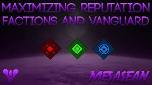 Vanguard Flag Destiny Vip Patrols Faction Vanguard Reputation Maximizing