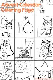 christmas countdown 1 advent calendar coloring simple