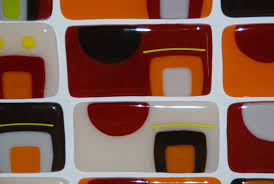 hand made southwest kitchen backsplash in fused glass custom