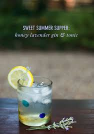 lavender cocktail sweet summer supper honey lavender gin u0026 tonic twin stripe blog