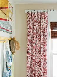 How To Install Shower Curtain Diy Window Curtains From Canvas Or Dropcloth Diy Network Blog