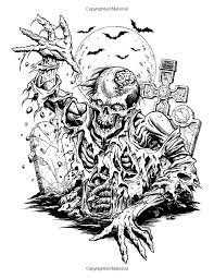 110 horror coloring pages images