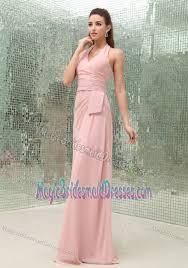 light pink halter dress train light pink chiffon halter bridesmaid dress in orange