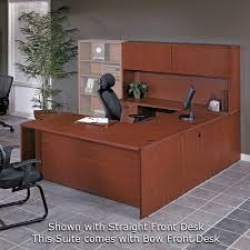 U Shape Desk U Shape Desk W Hutch 71x113 Cherry Or Mahogany