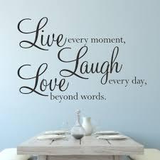 live laugh love wall sticker small home decor inspiration trend