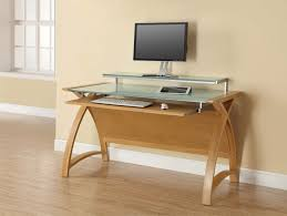 Oak Computer Desks Uk Buy Jual Curve Oak Computer Desk Pc201 1300 Cfs Uk