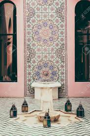 fountain and architecture morocco style decoration interior