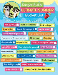 Backyard Scavenger Hunt Ideas Get Ranger Rick U0027s New Printable The Ultimate Summer Bucket List