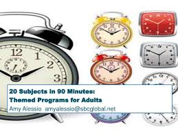 20 subjects in 90 minutes themed programs for adults workshop