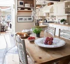 eclectic french farmhouse decorating in the kitchen and dining