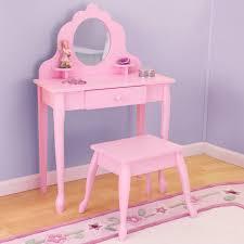 table splendid kids vanity set pink girls table stool mirror