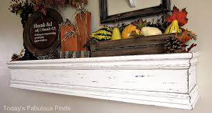 Mantel Shelf Woodworking Plans by Today U0027s Fabulous Finds Diy Mantel Shelf And How To Hang It