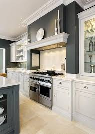 sleek painted kitchen toms mantels and cooker