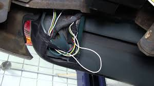 installation of a trailer wiring harness on a 2001 toyota tacoma