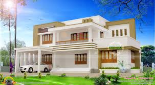 home design modern flat roof house plan by vision int arch kerala