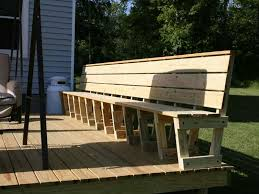 How To Build Patio Bench Seating Popular Patio Bench Ideas U0026 Ideas Awesome Deck Bench Plans With