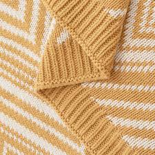 Yellow Throws For Sofas by Aliexpress Com Buy Cozzy Chevron Zigzag Pattern 100 Cotton