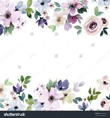 Designs For Invitation Card Watercolor Floral Border Design Colorful Template Stock