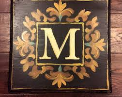 monogram plaques monogram plaque etsy