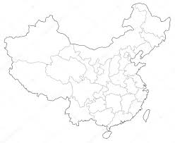 A Map Of China by A Map Of China U2014 Stock Vector Yugokyogo 40222337