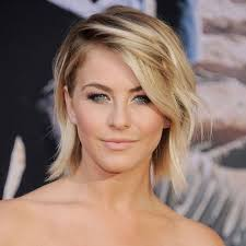 julianne hough shattered hair medium length messy blond hairstyle with fringe hairstyle short