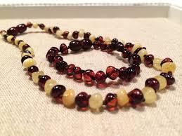 amber beads bracelet images Baltic amber teething necklace bracelet set 12 5 5 5 baby toddler jpg