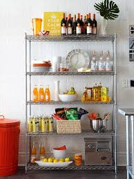 kitchen cabinets shelves ideas metal shelving kitchen wall shelves ideas and design 736x846