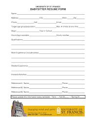 Sample Resume For Babysitter by Babysitter Templates Software Development Resume Example Nanny
