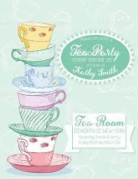 Tea Party Invitation Card Tea Party Invitation Template Stock Vector Art 506439696 Istock